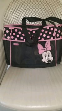 black and pink Minnie Mouse  Diaper bag Woodbridge, 22192