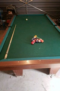 10' brown and green pool table Visalia