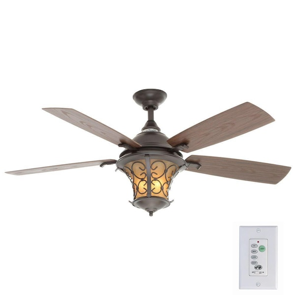 Used Hampton Bay Veranda Ii 52 In Indoor Outdoor Natural Iron Ceiling Fan With Light Kit And Wall Control For Farmers Branch Letgo