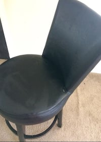 Heavy Duty Black Leather Chair/Stool 53 km