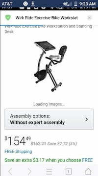 Exercise bike with workstation