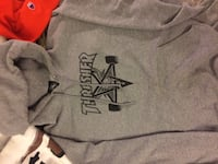 Thrasher hoodie grey and black skate goat  London