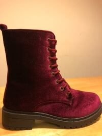 Worn Once: Wanted Brand Women's Burgundy Patrol Combat Boots - Size 7 College Park, 20740