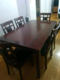 rectangular brown wooden table with chairs dining set Philadelphia, 19149