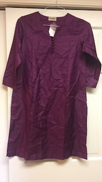 New royal purple silk tunic from india Chicago, 60647