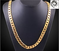 4 mm Authentic 18K Gold Plated Flat Bone Snake Chain Herringbone Chain Necklace
