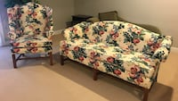 White, red, and green floral pattern couch set  Ashburn, 20148