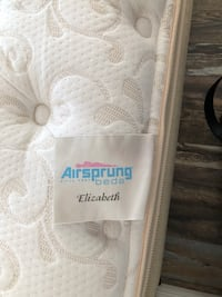 Airsprung brand queen mattress and box spring. Frame not included. Very good condition, no stains, no sagging Boca Raton, 33487