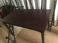 rectangular brown wooden dining table Byron, 31008