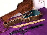 Acoustic guitar, strap, stand, lockable hard shell case and tuner  Sudbury, P3A 1T7