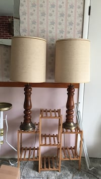 2 Wooden tall lamps Toms River, 08755