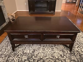 2 Ashley end tables and 1 coffee table