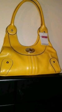 yellow leather Rosetta shoulder bag Tuscaloosa, 35405