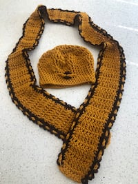 Mustard crochet scarf and hat set  Newmarket, L3Y 7K2