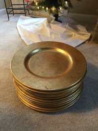 10 Gold Chargers made in Italy Centreville, 20120