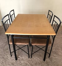 rectangular brown wooden table with four chairs dining set 2262 mi