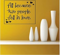 All because two people fell in love wall decor  London, N6J 3Z6