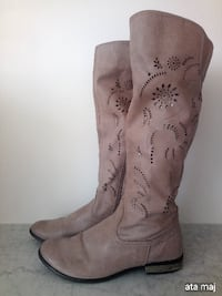 Perforated Leather Italian Boots Surrey