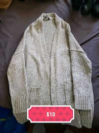 gray button-up cardigan Calgary, T2L 2J5