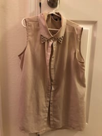 Sleeveless button up with studs  Rockville
