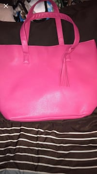 Pink Leather Tote Lancaster, 93536