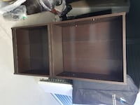 black and gray wooden TV stand Ajax