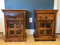 Two beautiful solid wood side tables Surrey, V3Z 0N1
