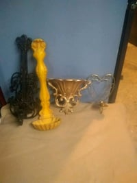 Candle holders and wall decorations