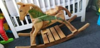 Wooden Rocking horse. Childrens toy  Los Angeles, 90002