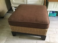 Brown wooden framed brown padded ottoman Sanibel, 33957