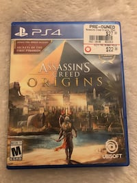 Sony PS4 Assassin's Creed Origins case Moreno Valley, 92555
