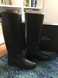 J.Crew black leather boots in size 5 Alexandria, 22305