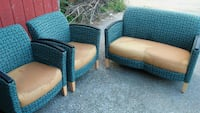 two blue and black padded armchairs Harrisburg, 17104