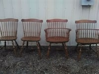 Four antique Keller and stone Windsor dining chair 462 mi