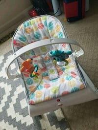 baby's white and blue bouncer Lorton, 22079