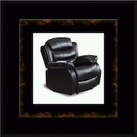 Black recliner chair McLean