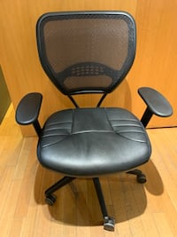 Nearly new, black rolling office chair 542 km