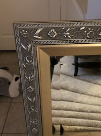 Silver framed mirror  2ft 30 in X 3 ft 29 in Plano, 75093