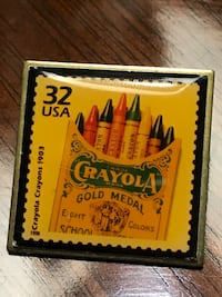 Crayola Crayons 1903 Commemorative Stamp Pin from 1998