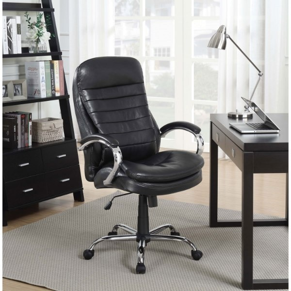 NEW IN BOX Picket House Aaron Executive Office Chair - Black 11995415-0e33-4146-aa0c-93ed2007af47
