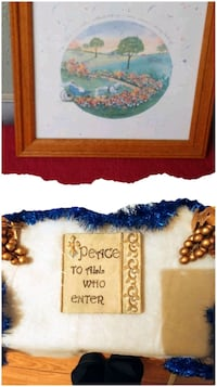 Love & Peace framed print & Stone plaque