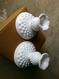 white hobnail candle holders Sparrows Point, 21219
