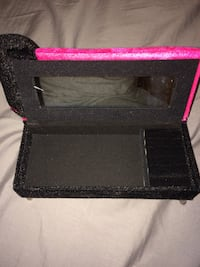pink and black velvet jewelry box