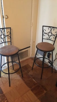 two black metal framed brown padded chairs Suitland, 20746