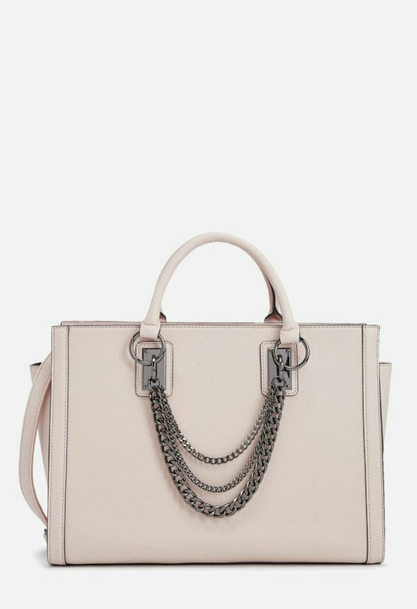 921a5a6b214 Used women s white chained leather satchel bag for sale in Montreal - letgo