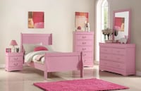 BRAND NEW 5 PCS TWIN BEDROOM SET PINK Clifton, 07013