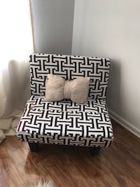 Black white accent mini couch / futon.  25 km