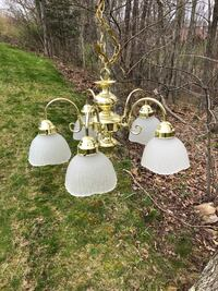 Brass chandelier  Crab Orchard, 25827