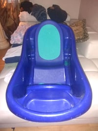 baby's blue plastic bather Edmonton, T5B 3N1