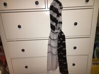 grey and black tie-scarf Modesto, 95355
